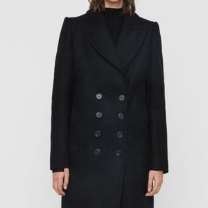 All Saints - Blair Shadow Coat - Black - Size 6